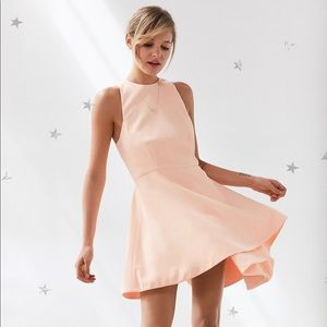 "C/meo ""Fool's Gold"" dress Peach Pink folded"